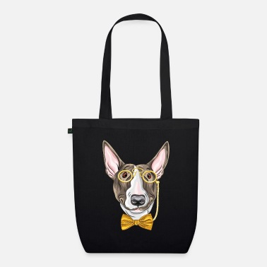 Monocle Dog with monocle - Organic Tote Bag