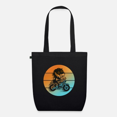 Motorrad Wolf motorcycle cartoon - Organic Tote Bag