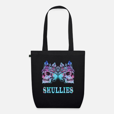 Skull Colorful skull and crossbones gift - Organic Tote Bag