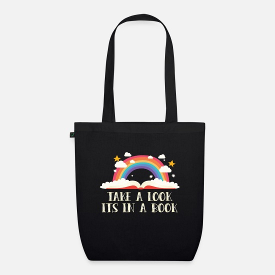 Book Bags & Backpacks - Look, it's in books. Take a look its - Organic Tote Bag black