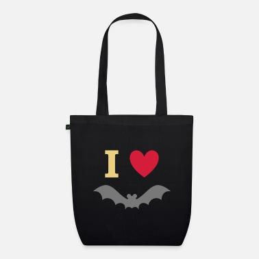 Pygmy Bat I love bats - Organic Tote Bag