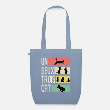 Easy Un Deux Troix Cat T-Shirt Funny Cute French - Organic Tote Bag