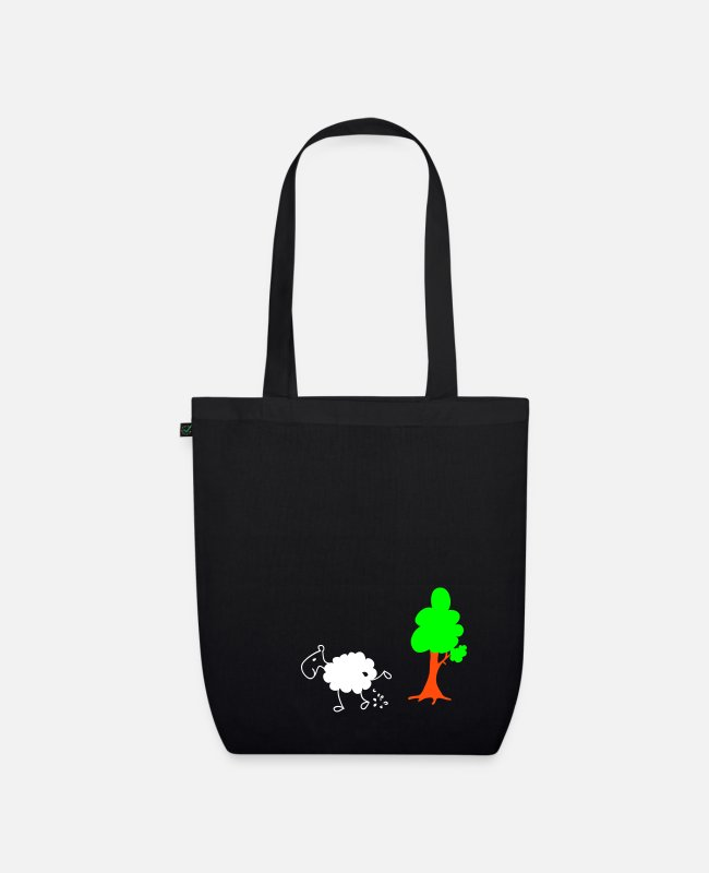Nature Bags & Backpacks - Schwarzes Schaf Pisser / Sheep in wolf's clothing - Organic Tote Bag black
