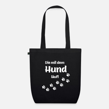 Paw THE DOG RUNNING - dog paws paw print - Organic Tote Bag