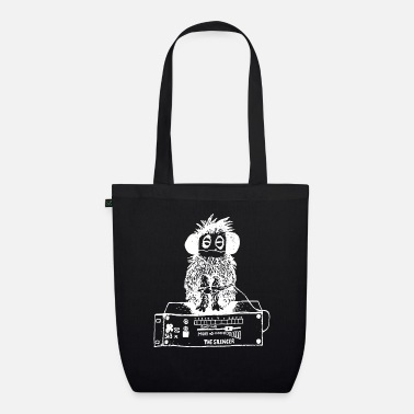 Kids &amp Stereo monkey listens to music through headphones - Organic Tote Bag