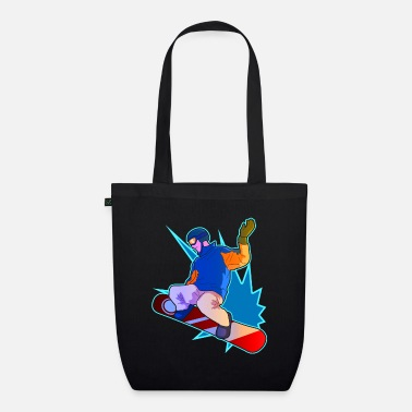 Winter Snowboarder Gift For Snowboarding Men And Women - Organic Tote Bag
