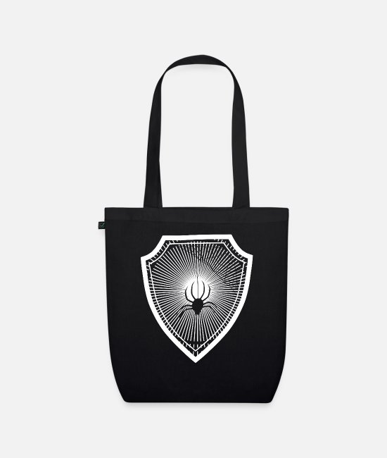 Witching Hour Bags & Backpacks - spider - Organic Tote Bag black