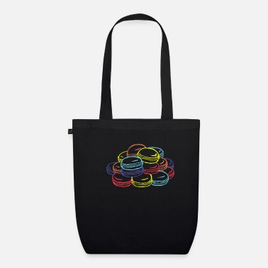 Weekend Macaron Strokes gift for Baker - Organic Tote Bag