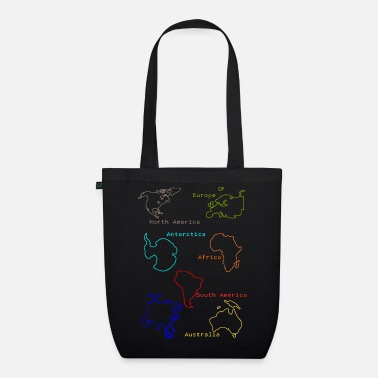 Continent Continents - Organic Tote Bag