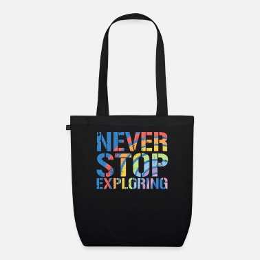Keep Calm Never Stop Exploring - Bio Stoffbeutel