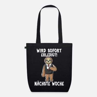 The Office Sloth in the office - Organic Tote Bag