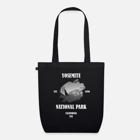 San Francisco Bags & Backpacks - Yosemite National Park California USA black and white - Organic Tote Bag black