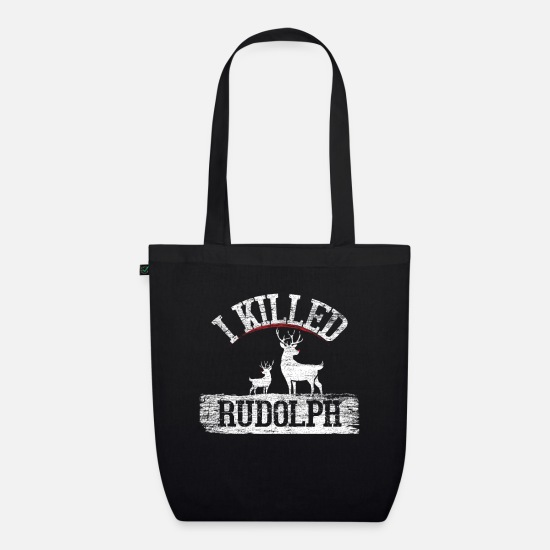 Funny Pictures Bags & Backpacks - Rudolf Christmas - Organic Tote Bag black