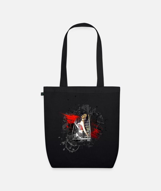 Art Bags & Backpacks - Erotic sexy woman modern art - Organic Tote Bag black