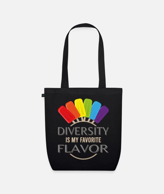 Queer Bags & Backpacks - DIVERSITY IS MY FAVORITE FLAVOR - Organic Tote Bag black