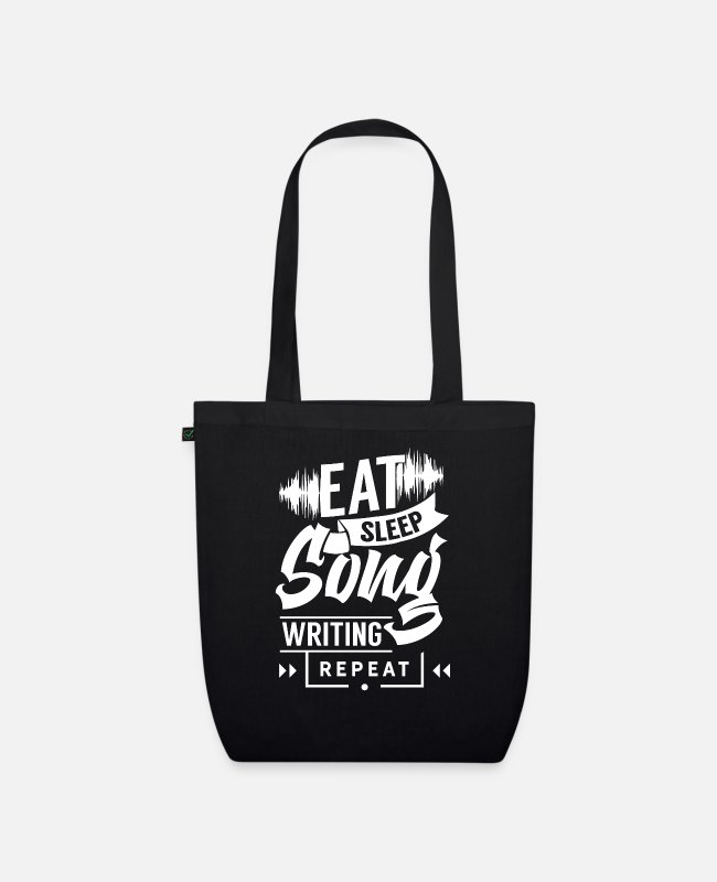 Composer Bags & Backpacks - Songwriter songwriter composing song composer - Organic Tote Bag black
