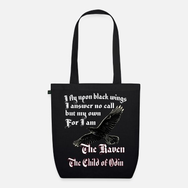 Pagan Rock Viking ravens Odin Thor mythology gift - Organic Tote Bag
