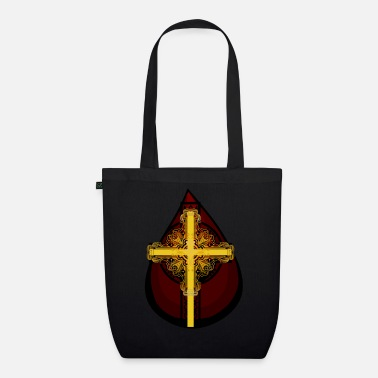 Bloodstain Drop of Blood Christ's Blood Jesus Cross Religion - Organic Tote Bag