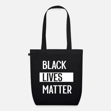 Black Simple Black Lives Matter in Black and White - Organic Tote Bag