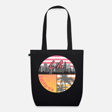 Hollywood Los Angeles skyline - Organic Tote Bag