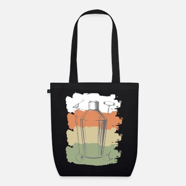 Waiter bartender, cocktail, bar, bartender, drink - Organic Tote Bag
