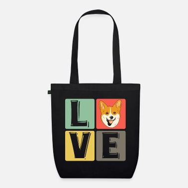 Corgi love dog four-legged dog owner - Organic Tote Bag