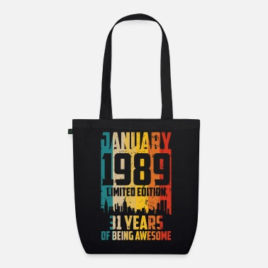 Worker january 1989 Limited Edition 31 Years - Organic Tote Bag