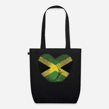 Jamaican Creole Jamaica Heart Group Tee Shirts - Organic Tote Bag