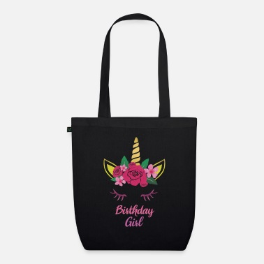 Look Birthday Girl Unicorn And Flowers Magic Party Gift - Organic Tote Bag