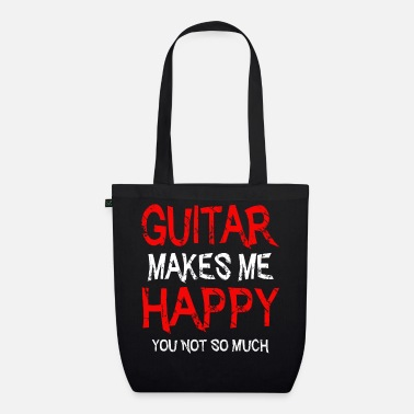 Rockers Guitar makes me happy guitarist guitar gift - Organic Tote Bag