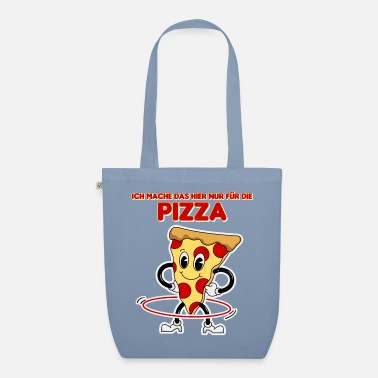 Funny Retro Pizza Hula Mature Design - Organic Tote Bag