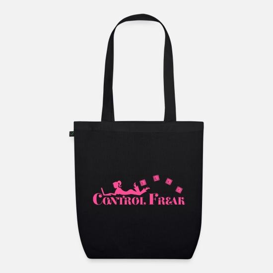 Gift Idea Bags & Backpacks - Control freak. Sexy woman with laptop - Organic Tote Bag black