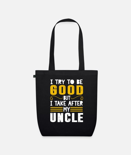 Funny Bags & Backpacks - funny funny sayings - Organic Tote Bag black