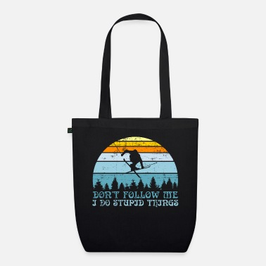 Snow Nice Skiing Shirt For Skiers Don't Follow Me I - Organic Tote Bag