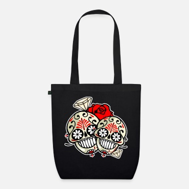 Love Collection V2 DIAMOND SKULL - Borsa di stoffa ecologica