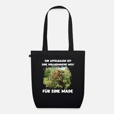 Money-grubbing For a grub, an apple is the world - Organic Tote Bag