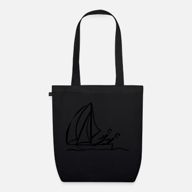 Dinghy Sailing dinghy - Organic Tote Bag