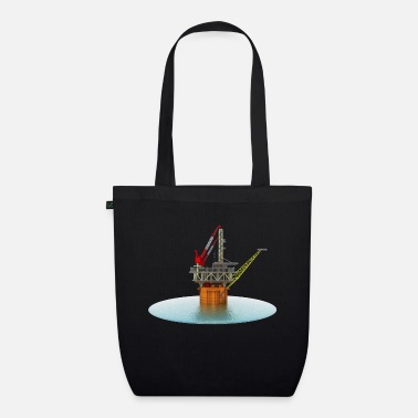 Oil Exploration Drilling platform in the sea - Organic Tote Bag