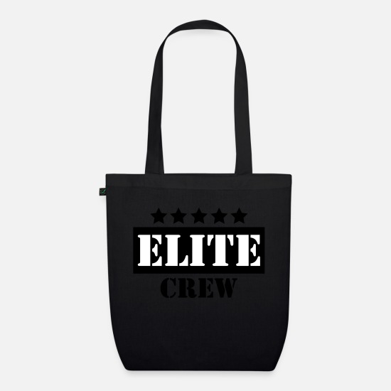 Elite Bags & Backpacks - Elite crew - Organic Tote Bag black