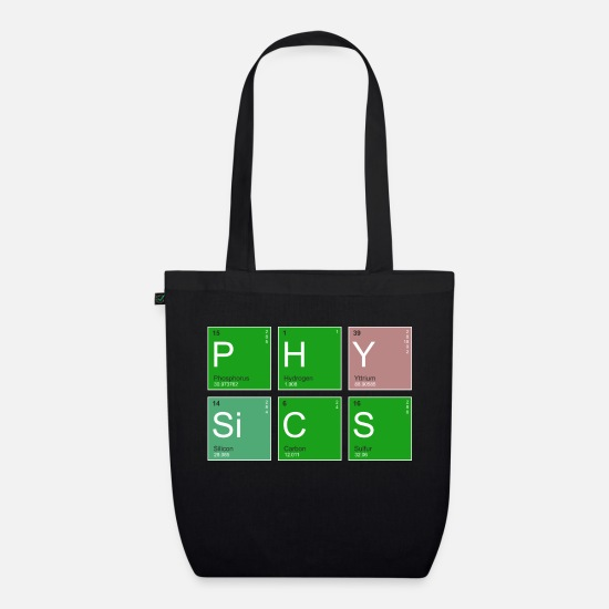 Physics Bags & Backpacks - Elemental Physics - Organic Tote Bag black