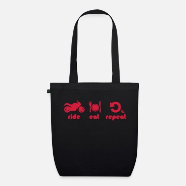 ride is life by dk - Organic Tote Bag