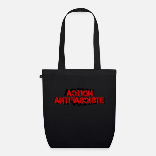 Italian Bags & Backpacks - ACTION ANTIFASCISTE ITALY SPAIN EUROPE - Organic Tote Bag black
