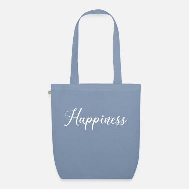 German Happiness saying font text cheerful happy - Organic Tote Bag