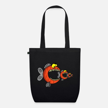 Food Chain Fish and food chain - Organic Tote Bag
