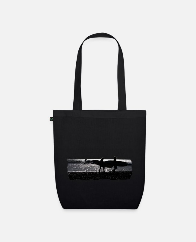 Sunset Bags & Backpacks - surf - Organic Tote Bag black
