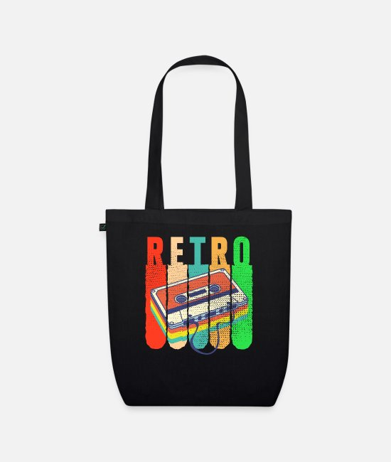 Retro Style Bags & Backpacks - Retro - Organic Tote Bag black