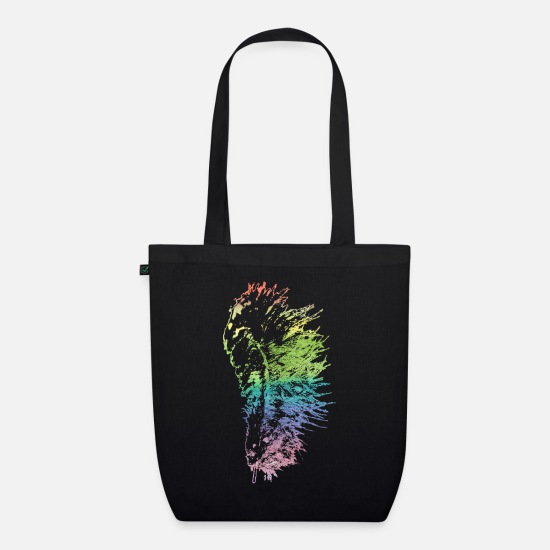 Gift Idea Bags & Backpacks - feather - Organic Tote Bag black