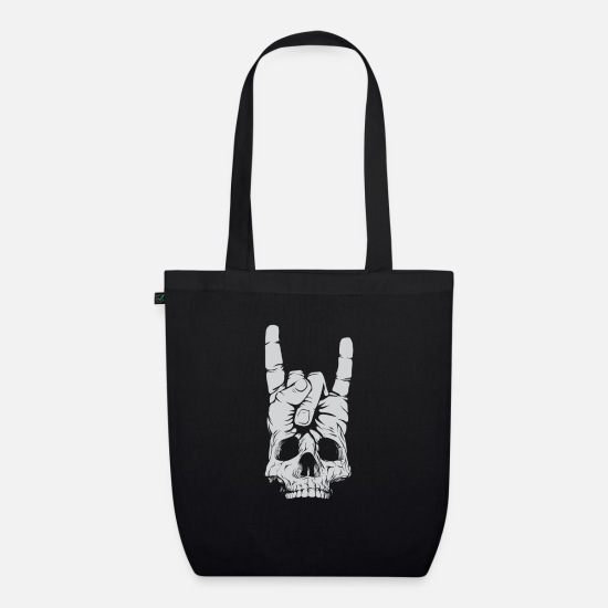 Heavy Metal Bags & Backpacks - Heavy Metal Rock Hand - Organic Tote Bag black