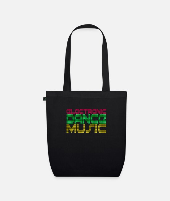 Bass Bags & Backpacks - techno rave raver dj festival electro hardstyle - Organic Tote Bag black