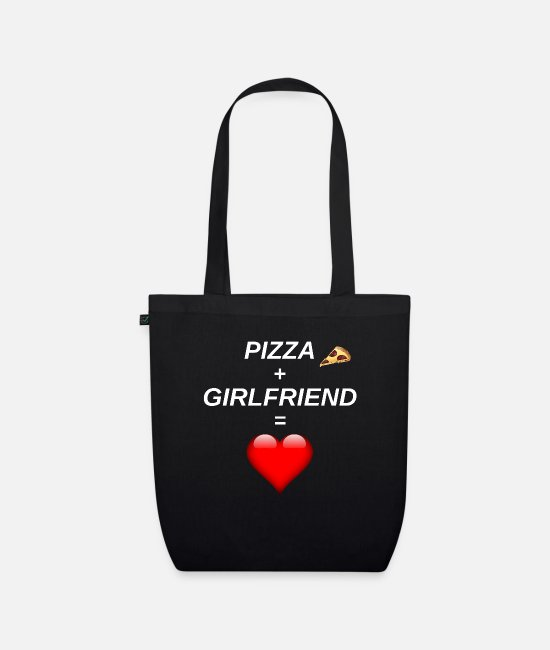 Pizza Bags & Backpacks - Pizza - friend - gift - girlfriend - Organic Tote Bag black